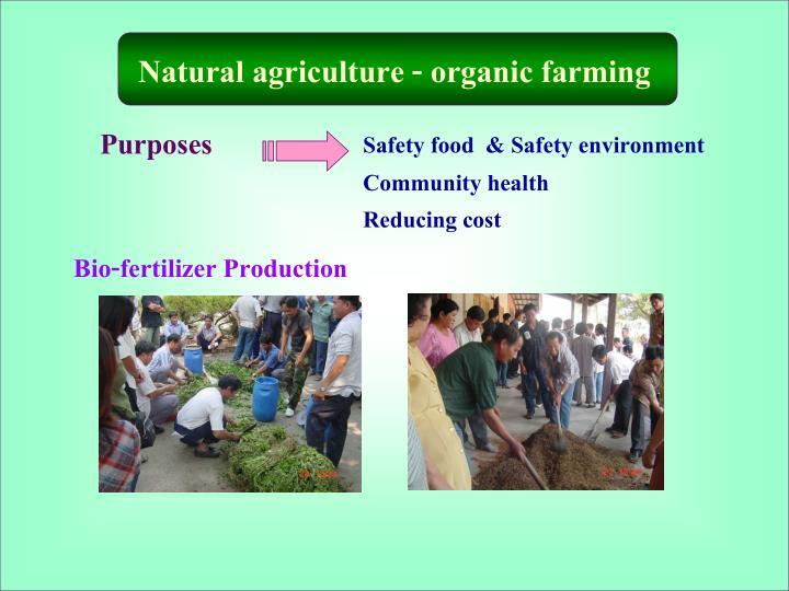 Natural agriculture - organic farming
