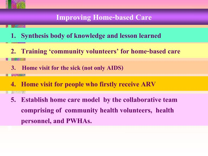 Improving Home-based Care