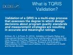 what is tqris validation