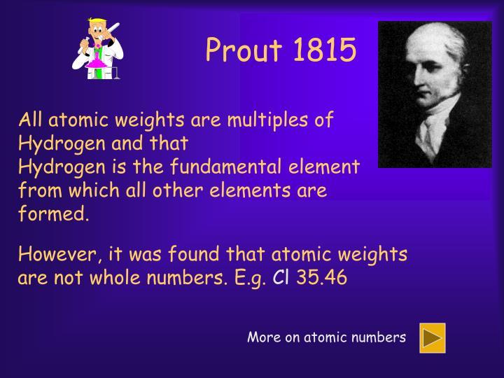 Prout 1815