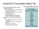linked elf executable object file