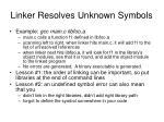 linker resolves unknown symbols11