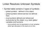 linker resolves unknown symbols2