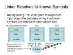 linker resolves unknown symbols5