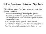 linker resolves unknown symbols6
