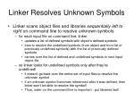 linker resolves unknown symbols9