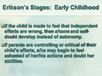erikson s stages early childhood