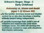 erikson s stages stage 2 early childhood