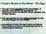freud s model of the mind the ego