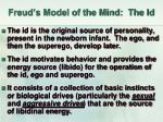 freud s model of the mind the id