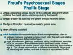 freud s psychosexual stages phallic stage