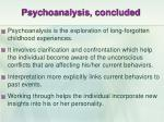 psychoanalysis concluded
