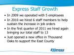 express staff growth