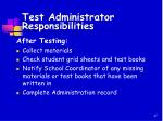 test administrator responsibilities1
