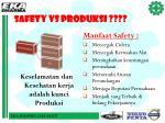 safety vs produksi