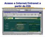 acesso a internet intranet a partir do eis