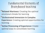 fundamental elements of brain based teaching