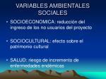 variables ambientales sociales