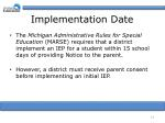 implementation date1