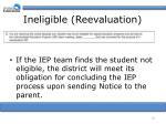 ineligible reevaluation