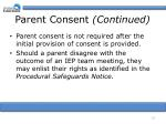 parent consent continued