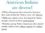 american indians are diverse
