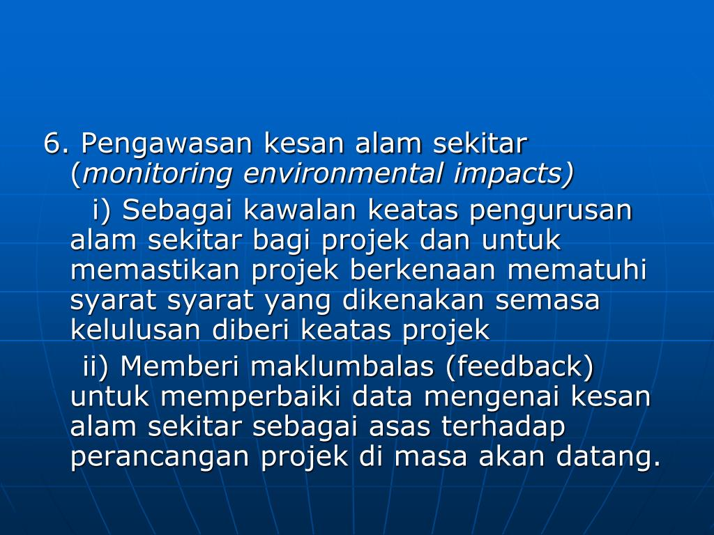 PPT - ENVIRONMENTAL IMPACT ASSESSMENT PowerPoint Presentation - ID