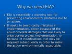 why we need eia