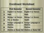 enrollment worksheet