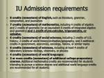 iu admission requirements