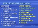 application narrative1