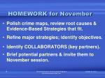 homework for november