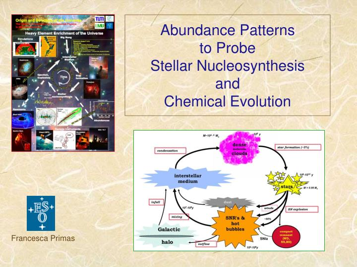 abundance patterns to probe stellar nucleosynthesis and chemical evolution n.