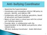 anti bullying coordinator