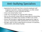 anti bullying specialists
