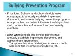 bullying prevention program