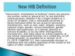 new hib definition