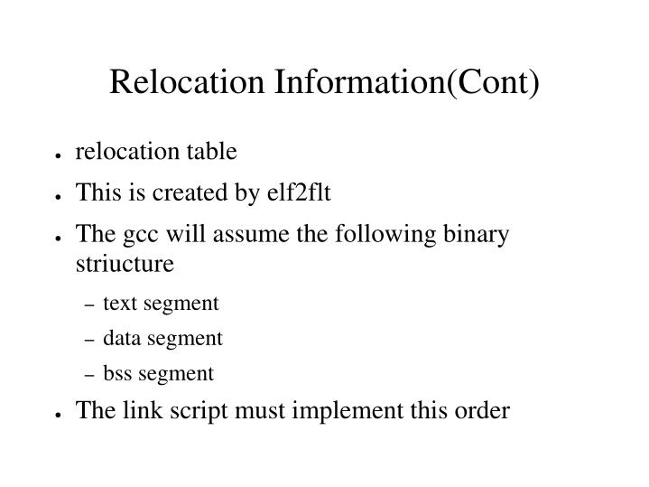 relocation table