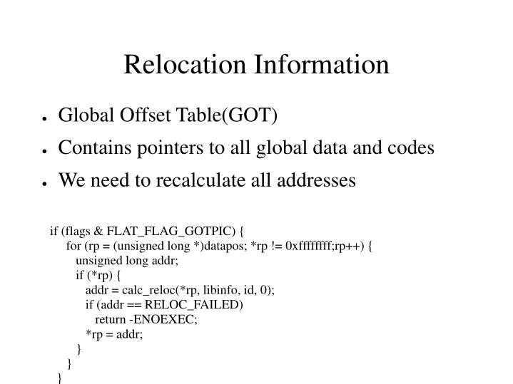 Global Offset Table(GOT)