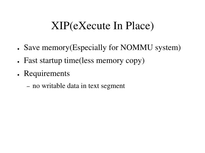 Save memory(Especially for NOMMU system)