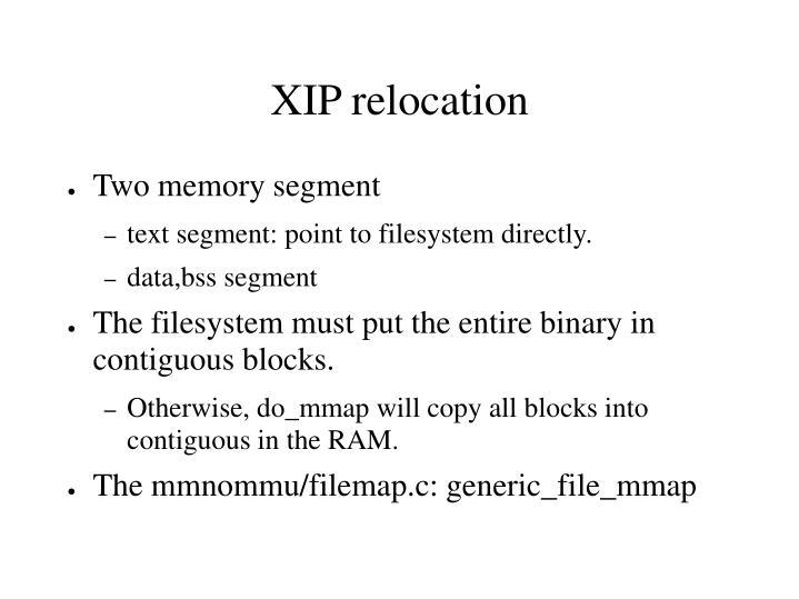 Two memory segment