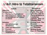 l1 2 intro to totalitarianism