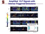 amplified vlf signals with intense triggered emissions