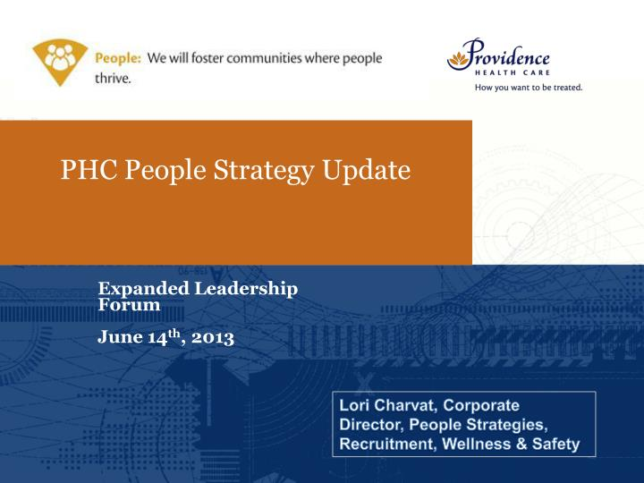 phc people strategy update n.