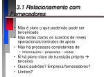 3 1 relacionamento com fornecedores