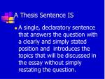 a thesis sentence is