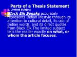 parts of a thesis statement