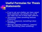 useful formulae for thesis statements
