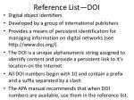 reference list doi