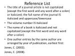 reference list1